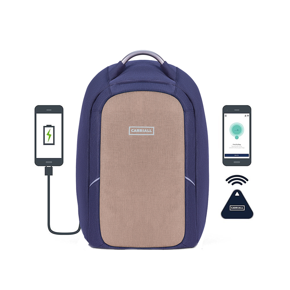 Backpack With USB Charger | Smart Backpack | Carriall - Columbus